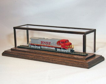 "N-Scale 8"" Track Display Case in Native Walnut by Oak Hill Crafts"
