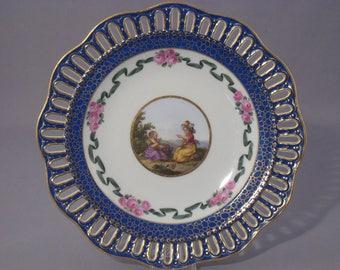 Meissen plate 24 cm Watteau 1850/1860