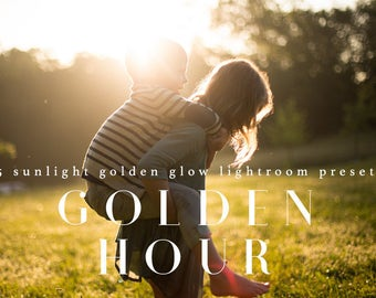 45 Sunlight Golden Glow Lightroom Presets Professional Photo Editing for Portraits, Newborns, Weddings By LouMarksPhoto