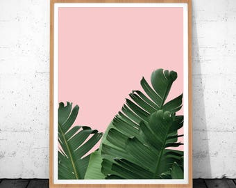 Plant Print Art, Banana Leaf Print, Banana Print, Printable Banana Leaf, Digital Download, Plant Wall Art, Banana Leaf Art Print, Leaf Print