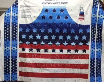Heart Of America Adult Apron/4th of July/ Stars and Stripes