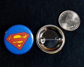 """Handmade 1.25"""" pinback buttons Superman pins badges button"""