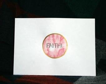 Handmade A5 Calligraphy Print 'FAITH'