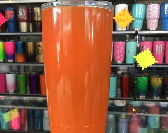 ORANGE powdercoated yeti 20oz