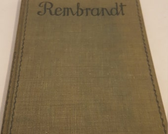 ON SALE, Vintage Book, Rembrandt, Joseph Israels, Masterpieces in Colour, rare Book, Decorative book, young adult, reference book, book sale
