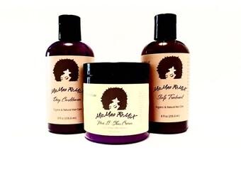 LOC/LCO METHOD Liquid.Oil.Cream/Liquid.Cream.Oil Bundle Pack for maximizing moisture retention.