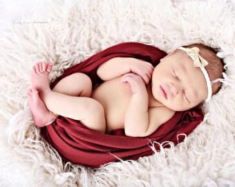 Burgundy Newborn Wrap, Newborn Photography Props