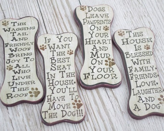 Dog Bone Shaped Magnets Humorous Designs Stocking Filler Secret Santa SG1943
