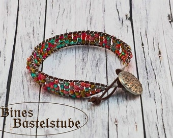 Leather Wrap Bracelet Bohemian Summer | Beaded Bracelet | Wrap Bracelet  | Leather Bracelet | Boho Bracelet | Boho Chic | Boho Jewelry