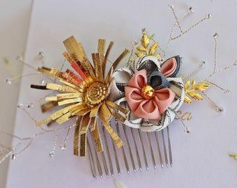 Gold vintage Bridal hair comb, wedding hair comb, bridal accessories, bridal headpiece, bridal hair piece, wedding, bridal hair accessories