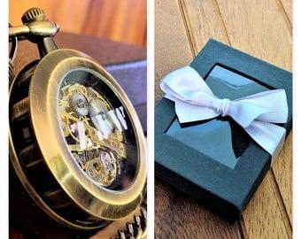 Steampunk pocket watch, skeleton pocket watch, mens steam punk vintage mechanical watch, mens gear gift,man retro mens watch, personalized