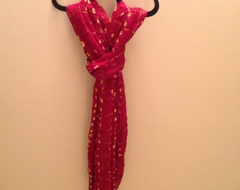 Red Scarf/ Wrap