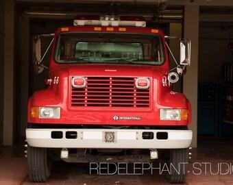 Red Firetruck Digital Backdrop/Digital Background