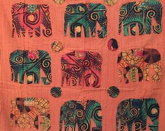 Cotton elephant wall hanging..