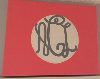 Mongrammed Canvas