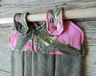 Pink Camo Hanging Towel Pink Camo Kitchen Decor Kitchen Towel Camo Decor