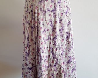 Pretty floral skirt - 1990s Monsoon - UK Size 10