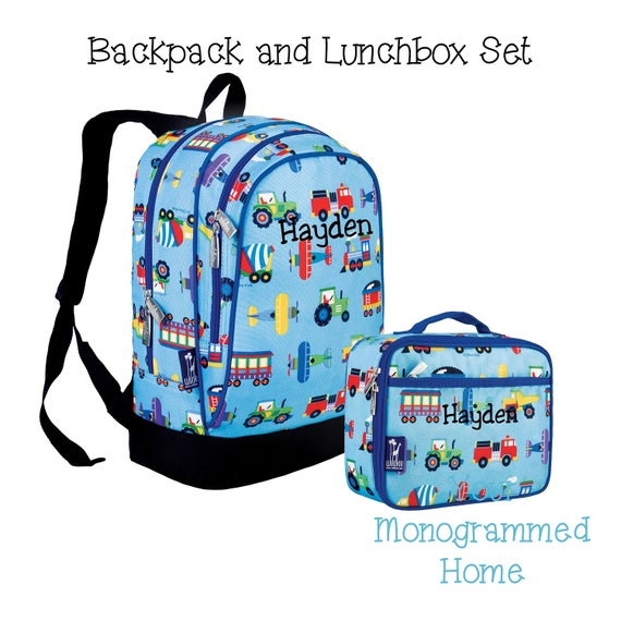 kindergarten 1st 2nd grade backpack and lunchbox set