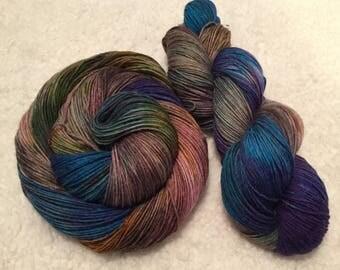 Hand dyed yarn Alpaca blend 437 yards each
