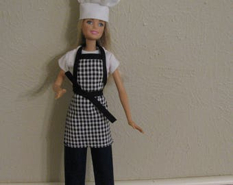 Barbie doll clothes-chef