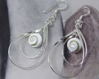 Eye of Lucia round on Silver 925 earrings