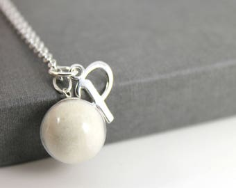 DIY Breast Milk Pearl and Initial Sterling Silver Necklace Kit , Do it Yourself DNA Breastmilk keepsake