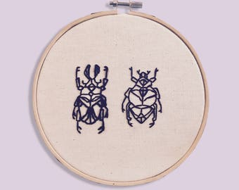 embroidery insects to line
