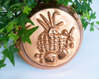 Vintage copper mold Copper jelly mold, pineapple copper mold, Copper pudding mold, Copper kitchen decor wall hanging mold copper kitchenware