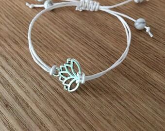 Handmade Lotus Flower Bracelet