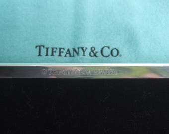 TIFFANY & Co. Sleek Chrome Picture Frame in Tiffany Box