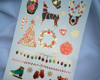 WINTER WONDERLAND CHRISTMAS Temporary Tattoo Sheet
