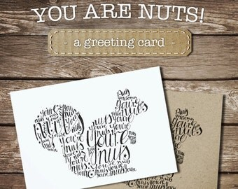 You're nuts! - squirrel -  A6 postcard