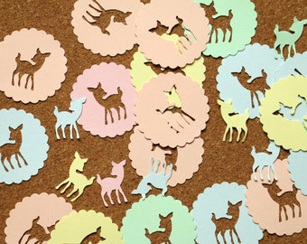 100pcs Confetti Bambi, baby shower, birthday party confetti, fawn