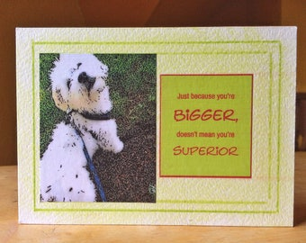 Handmade, one of a kind, collage, dog, gift for dog lover, small dog, wood sign, home decor