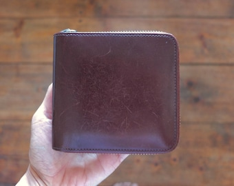 IL BUSSETTO Zip Wallet · Brown Wallet ·Handmade in Italy