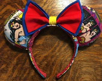 Wonder Woman Minnie Mouse Ears