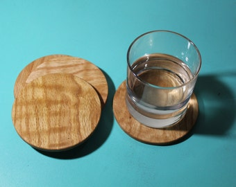 Handmade Coaster Set - No Engraving - 4 Coasters - available in Oak, Padauk or Cherry