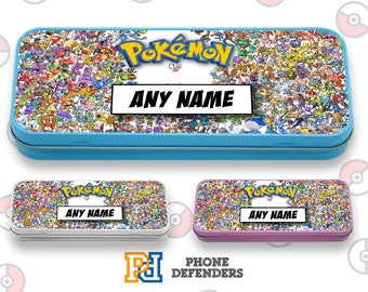 Got To Catch Them All POKEMON PIKACHU PERSONALISED Pencil Case Custom Name Pencil Pouch, Pencil Pouch School Supplies Cute Stationary