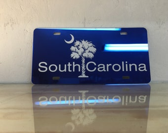 SALE South Carolina Palmetto Tree License Plate