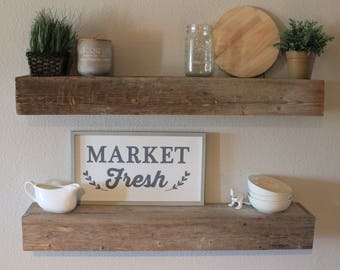 Floating Shelves - Floating Shelf - Shelf - Wood Shelf - Home Decor - Rustic - Farmhouse - Reclaimed - Weathered