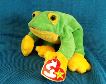 Beanie Baby Smoochie the Frog Stuffed Animal