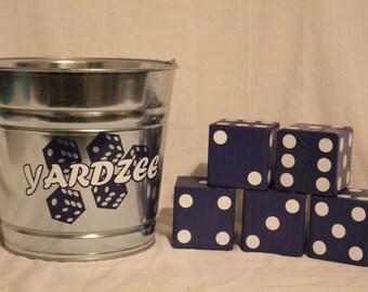 Dark Blue & White Yardzee (Yard Yahtzee)