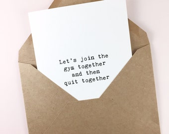 Funny friendship card/Best friend card/Quirky bff card