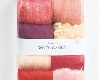 Hamanaka Woolcandy 8 colors Set H441-121
