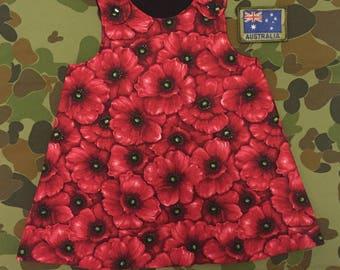Anzac Day Poppy Pinafore