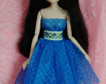 "HandMade Moxie Teenz Clothes, Doll Dress ""blue"", for doll 14"""
