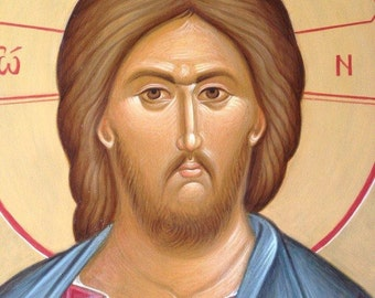 Jesus Christ Byzantine icon Orthodox icon Jesus Christ egg tempera Икона Христос Вседержитель яичная темпера Византийская