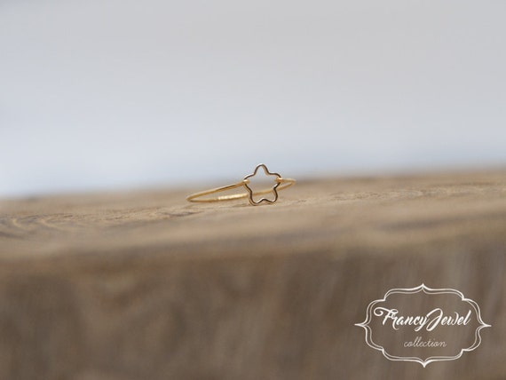 Mother's gift, star, gold ring, star ring, unique ring, handmade ring, 24k gold plated, made in Italy, not tarnish jewelry, birthday gift