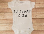 The Snuggle Is Real Iron On Decal DIY All in One Infant Shirt Tee T Do It Yourself Creeper Romper Baby Sleeper Top Clothing Baby Shower Gift
