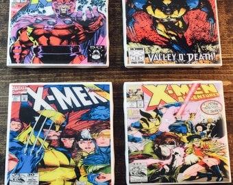 X-men comic coasters